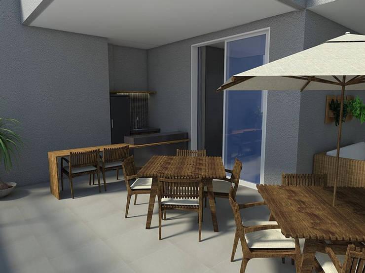 Apartamento - Ed. Now - Noroeste - Brasília/DF: Terraços  por Arquitetura do Brasil