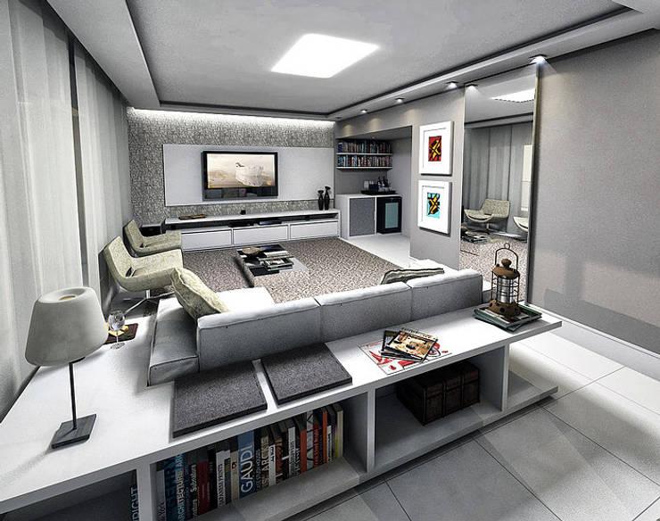 Apartamento - Horto Bela Vista - Salvador/BA: Salas de estar  por Arquitetura do Brasil,