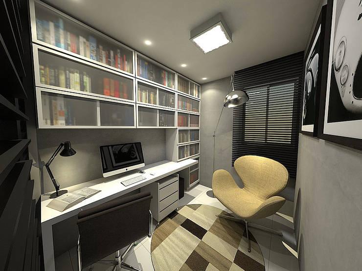 Apartamento - Horto Bela Vista - Salvador/BA: Escritórios  por Arquitetura do Brasil,