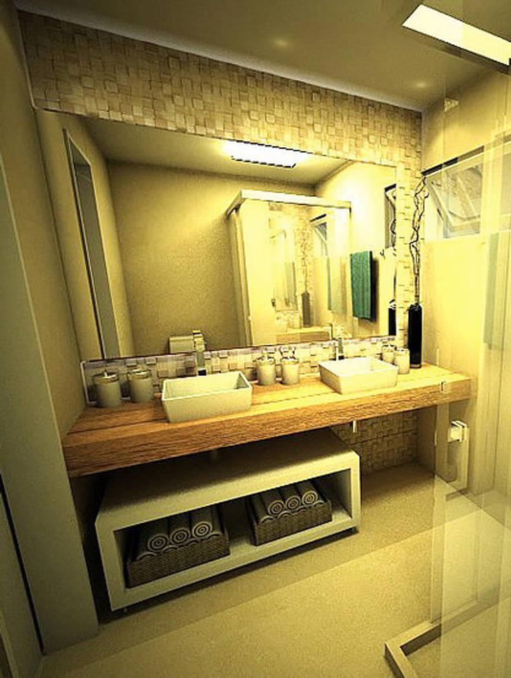 Apartamento - Horto Bela Vista - Salvador/BA: Banheiros  por Arquitetura do Brasil,