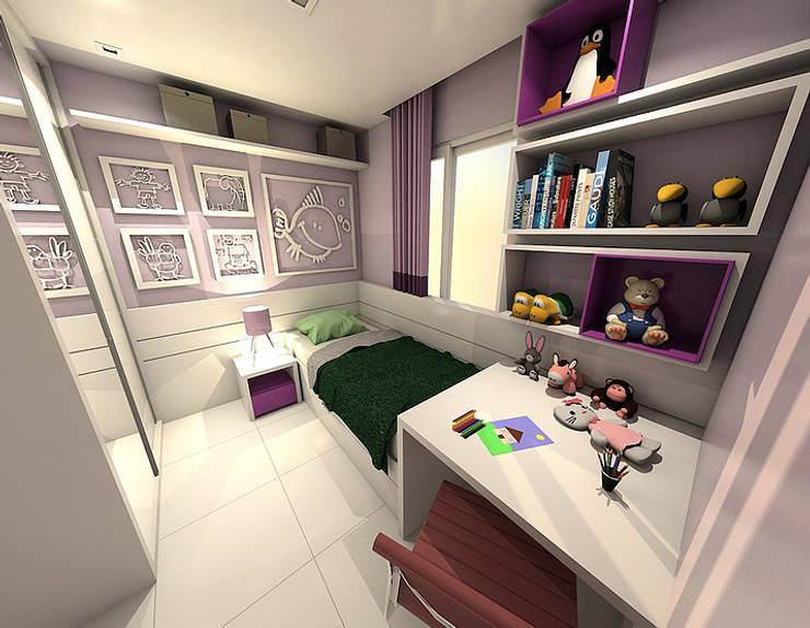 Apartamento - Horto Bela Vista - Salvador/BA: Quarto infantil  por Arquitetura do Brasil,
