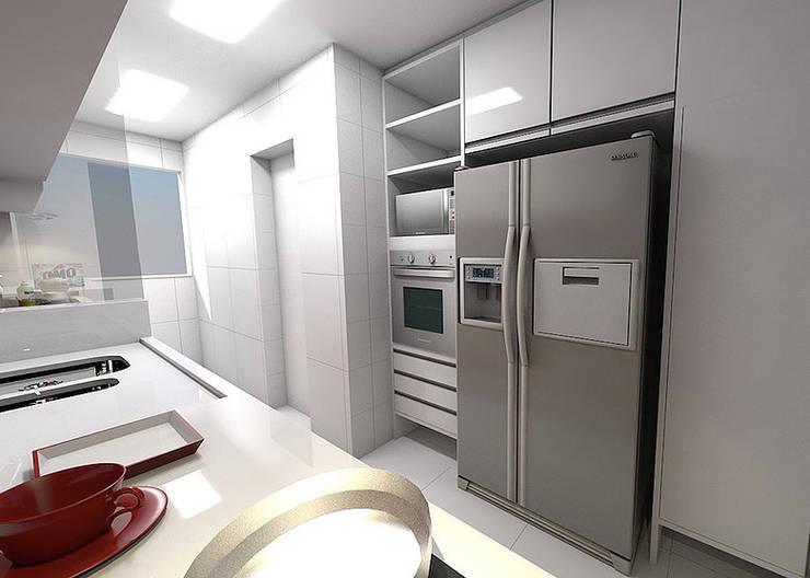 Apartamento - Horto Bela Vista - Salvador/BA: Cozinhas  por Arquitetura do Brasil,