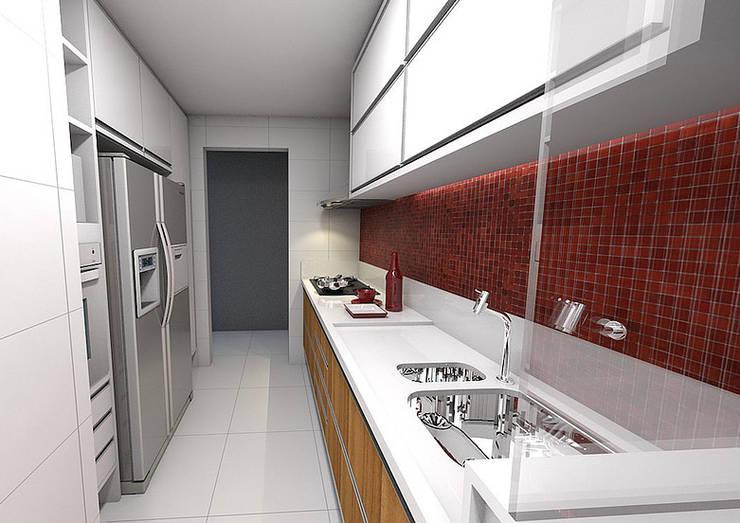Apartamento – Horto Bela Vista – Salvador/BA: Cozinhas  por Arquitetura do Brasil,