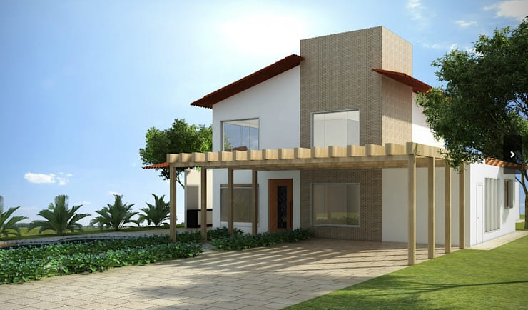 Casa - Condomínio Entrelagos - Brasília/DF: Casas  por Arquitetura do Brasil