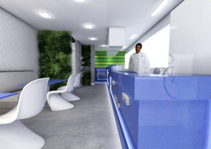 Restaurante Limonada – Águas Claras/DF: Espaços gastronômicos  por Arquitetura do Brasil