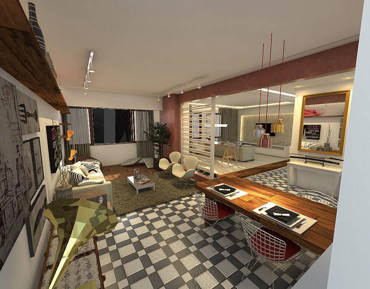 Apartamento - Trigal de Ouro - Salvador/BA: Salas de jantar  por Arquitetura do Brasil,Moderno