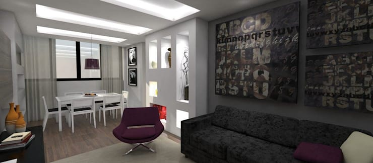 Apartamento - Morro do Gato - Salvador/BA: Salas de estar modernas por Arquitetura do Brasil