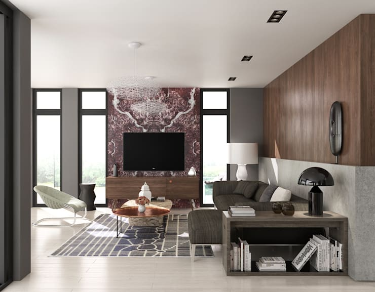 fatih beserek – İç mekan tasarım ve Görselleştirme:  tarz Oturma Odası, Modern