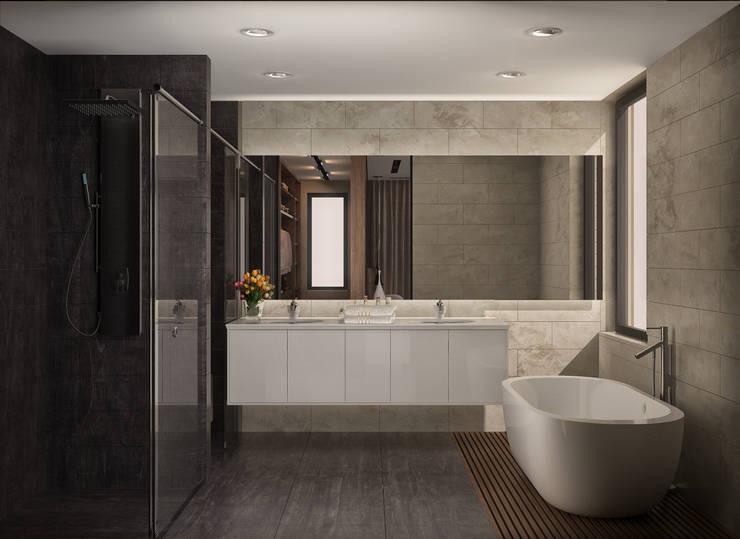 fatih beserek – İç mekan tasarım ve Görselleştirme:  tarz Banyo, Modern
