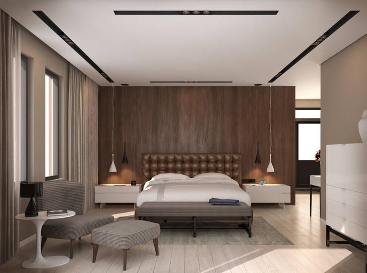 fatih beserek – İç mekan tasarım ve Görselleştirme:  tarz Yatak Odası, Modern