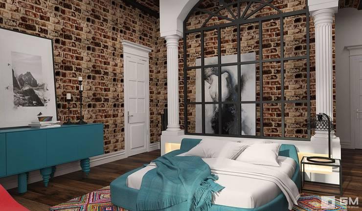 Эксклюзивный дизайн-проект дома в стиле эклектика: Спальни в . Автор – GM-interior