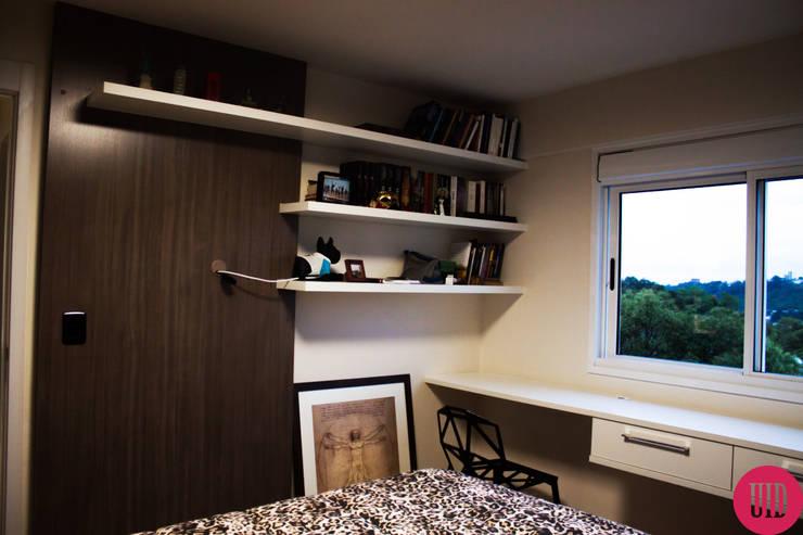 Apartamento jovem: Quarto  por USINA INTERIOR DESIGN