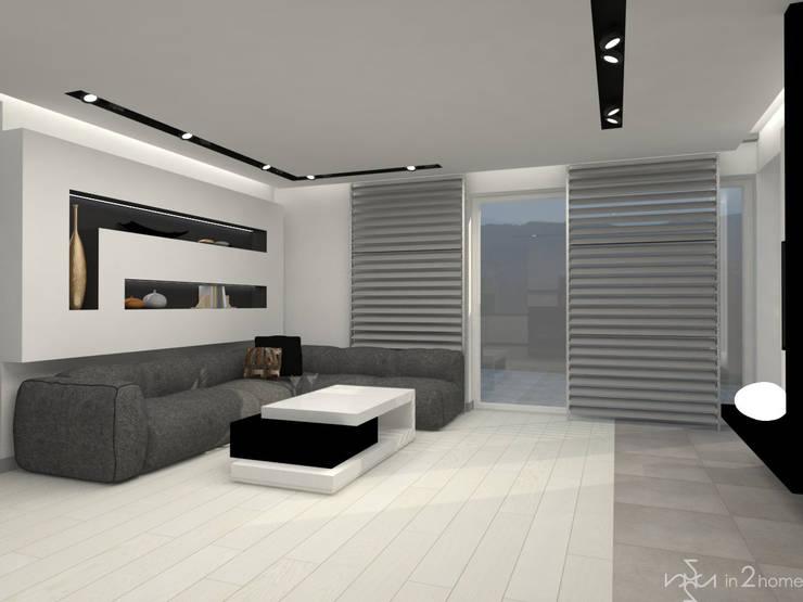 Salon: styl , w kategorii Salon zaprojektowany przez in2home,Nowoczesny Kompozyt drewna i tworzywa sztucznego