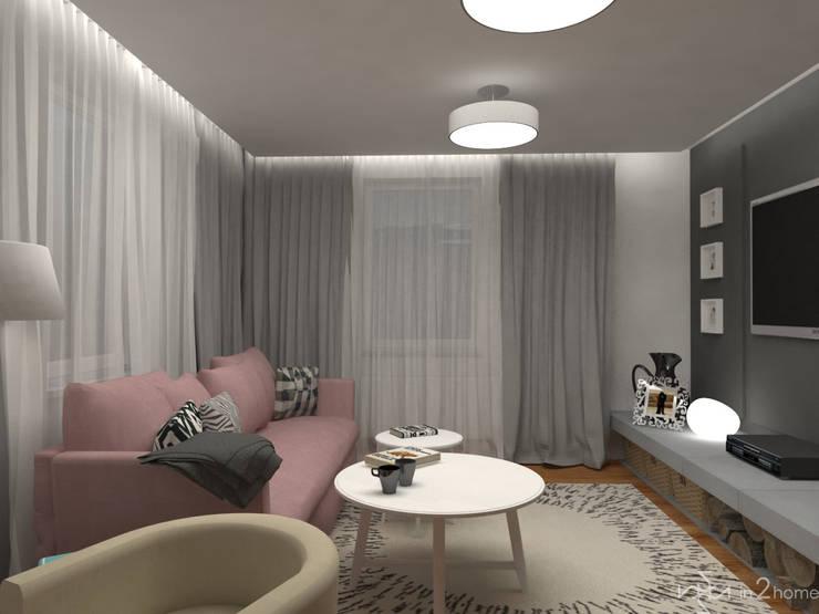 Pokój dzienny: styl , w kategorii Salon zaprojektowany przez in2home,Skandynawski Kompozyt drewna i tworzywa sztucznego