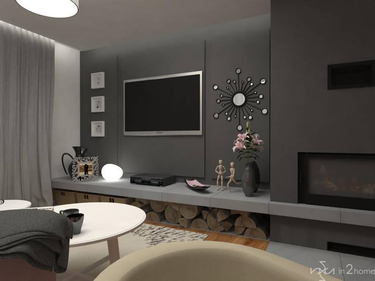 Pokój dzienny: styl , w kategorii Salon zaprojektowany przez in2home,Skandynawski Płytki