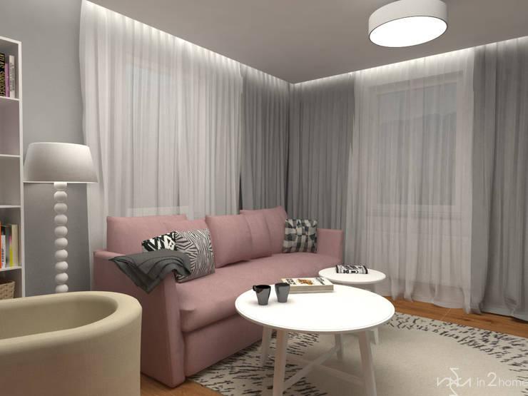 Pokój dzienny: styl , w kategorii Salon zaprojektowany przez in2home,Skandynawski