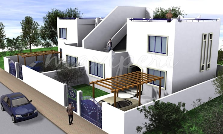 Bodrum Konutları: modern Houses by Maviperi Mimarlık