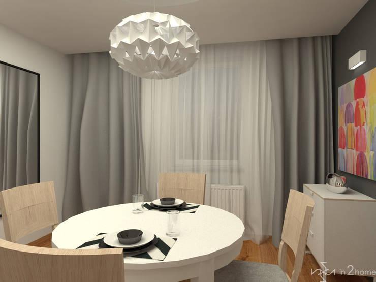 Jadalnia: styl , w kategorii Jadalnia zaprojektowany przez in2home,Skandynawski Kompozyt drewna i tworzywa sztucznego
