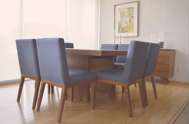 Comedor en madera de encino. : Comedor de estilo  por CuboB Arquitectura de Interiores