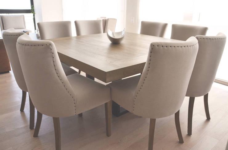 Comedor en madera de roble: Comedor de estilo  por CuboB Arquitectura de Interiores