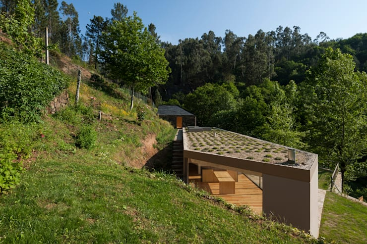 Projekty, rustykalne Domy zaprojektowane przez ABPROJECTOS