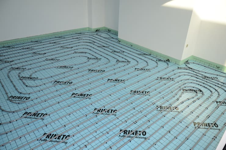 (2) Underfloor heating/ piso radiante: Paredes  por Dynamic444