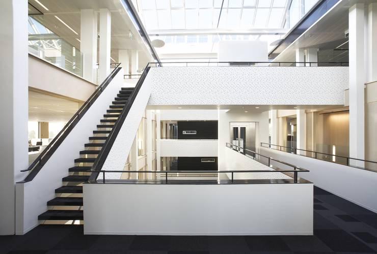 Rabobank Hoeksche Waard :  Kantoorgebouwen door RoosRos Architecten, Modern