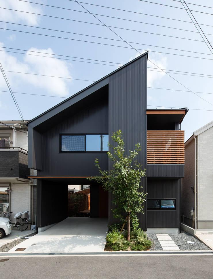 Moderne huizen van 藤森大作建築設計事務所 Modern
