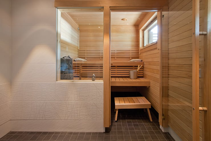 scandinavische Spa door Woody-Holzhaus - Kontio