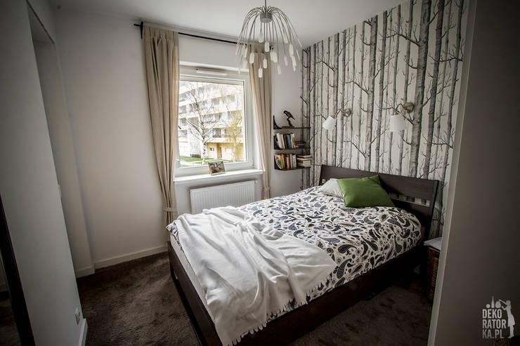 Camera da letto in stile  di dekoratorka.pl