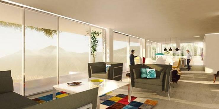 Casa I:  de estilo  por ADJKM arquitectos c.a.