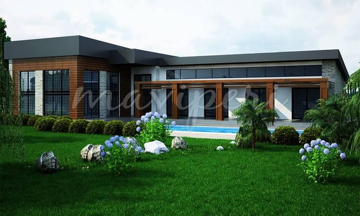 Uğurlu Residence:  Houses by Maviperi Mimarlık,Modern