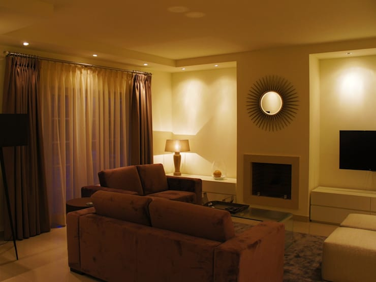 Villa 9 - sala de estar: Sala de estar  por Elite De Elogios