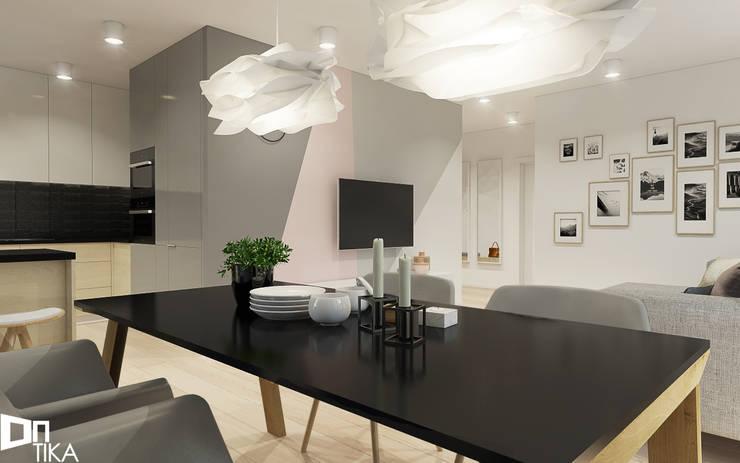 PROJEKT RZESZÓW/ 65 m2: styl , w kategorii Jadalnia zaprojektowany przez TIKA