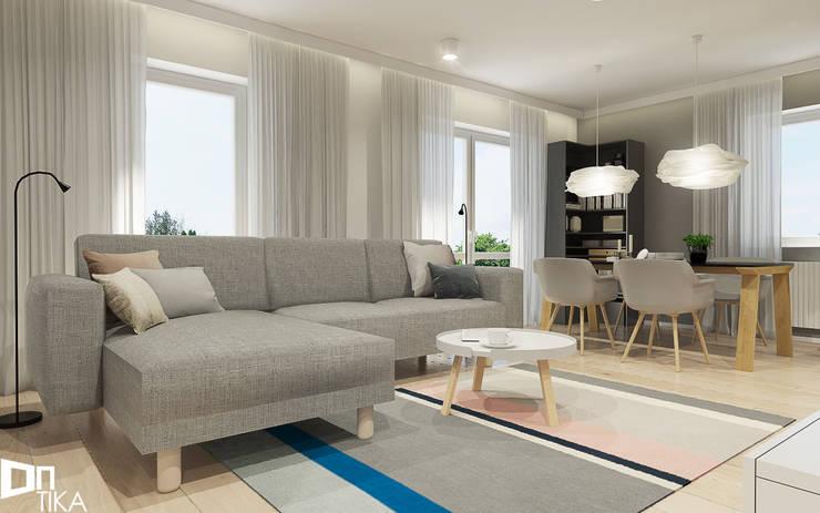 PROJEKT RZESZÓW/ 65 m2: styl , w kategorii Salon zaprojektowany przez TIKA
