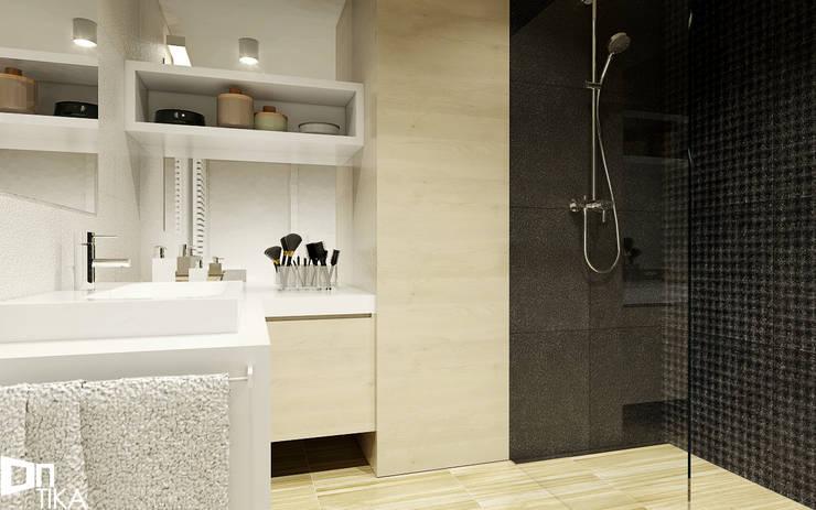 PROJEKT RZESZÓW/ 65 m2: styl , w kategorii Łazienka zaprojektowany przez TIKA