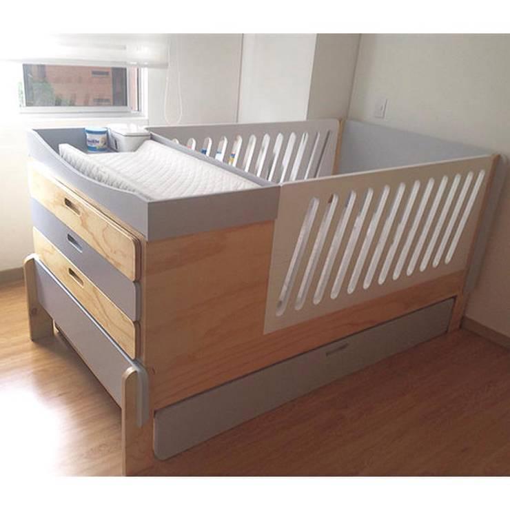 Mobiliario: Habitaciones infantiles de estilo  por OMMBÛ MOBILIARIO