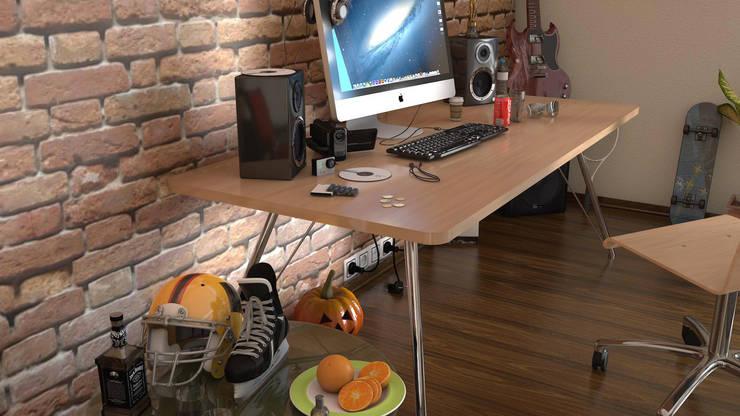 KK Creative Works – Kaya Aşçı Çalışma Masası: modern tarz Çalışma Odası