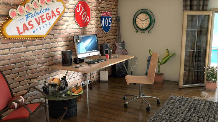 KK Creative Works – Kaya Aşçı Çalışma Masası 2: modern tarz Çalışma Odası