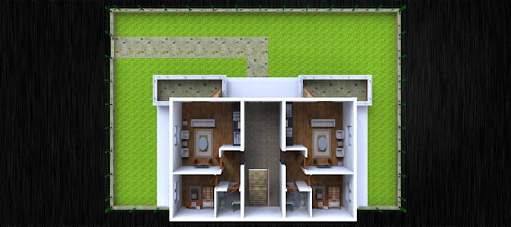 Proje Koc-Kar Cagdas Yasam evleri 3D Mimari Tasarım Sketchup & Lumion