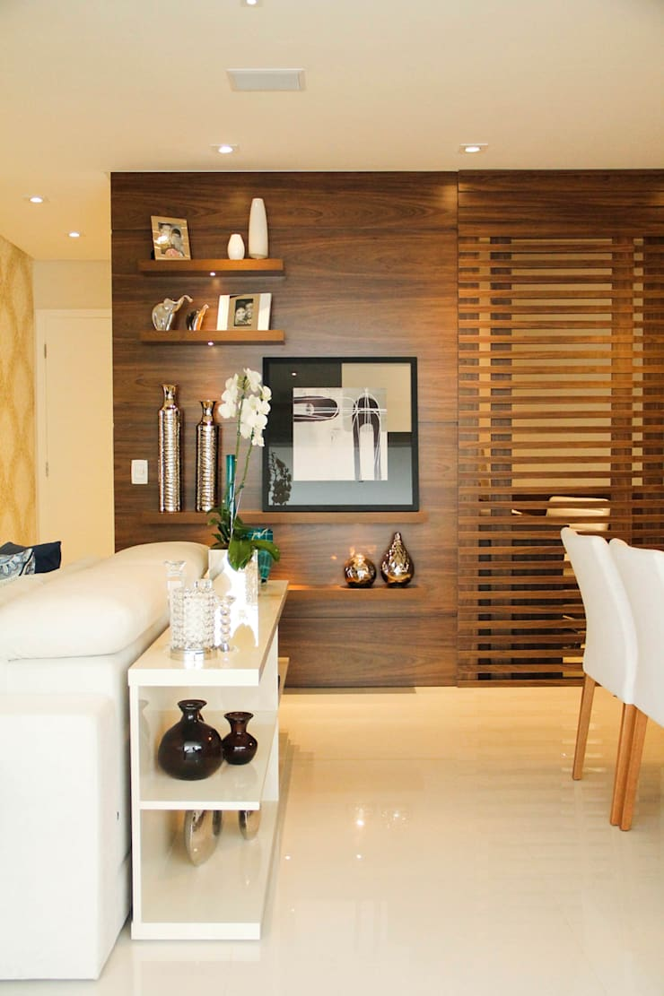 Apartamento Vila Clementino: Salas de estar  por Sandro Kawamura Designer de Interiores
