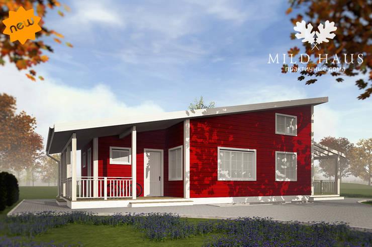 Главный фасад проект Норвегия: Дома в . Автор – Mild Haus