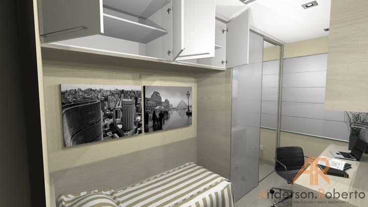 Cuartos de estilo moderno por Anderson Roberto  - Soluções Inteligentes para Ambientes