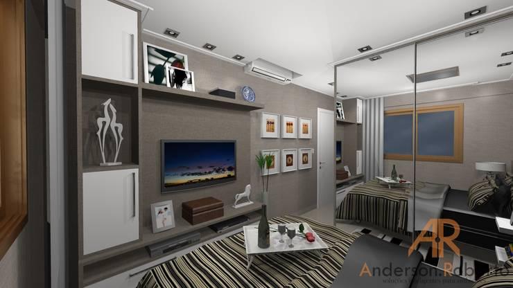 Dormitorios de estilo moderno por Anderson Roberto  - Soluções Inteligentes para Ambientes