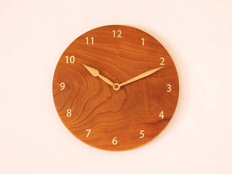 掛け時計 ケヤキ材: 木工 木の香が手掛けた家庭用品です。