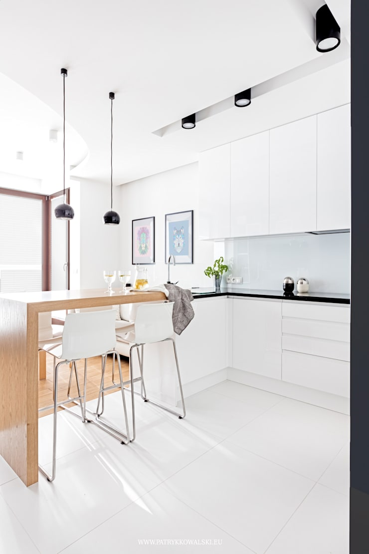 ul. Siedmiogrodzka: styl , w kategorii Kuchnia zaprojektowany przez Patryk Kowalski Architektura i projektowanie wnętrz,Nowoczesny