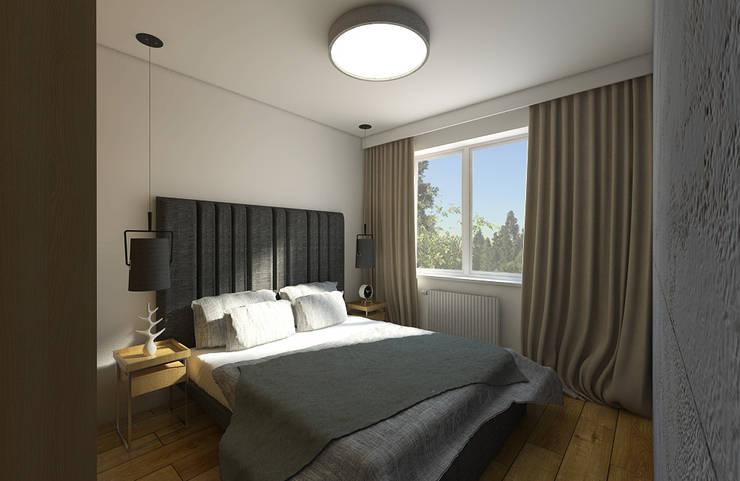 UDOMOWIONY BETON: styl , w kategorii Sypialnia zaprojektowany przez Creoline