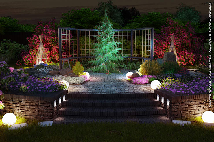 Jardines de estilo escandinavo por Мастерская ландшафта Дмитрия Бородавкина