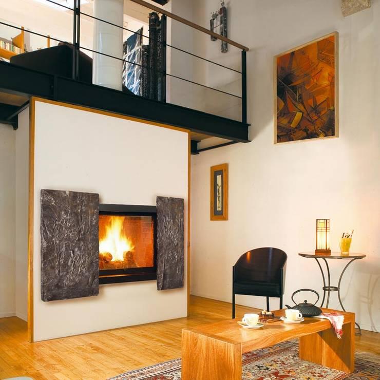 Projekty,  Salon zaprojektowane przez Chiemsee Öfen