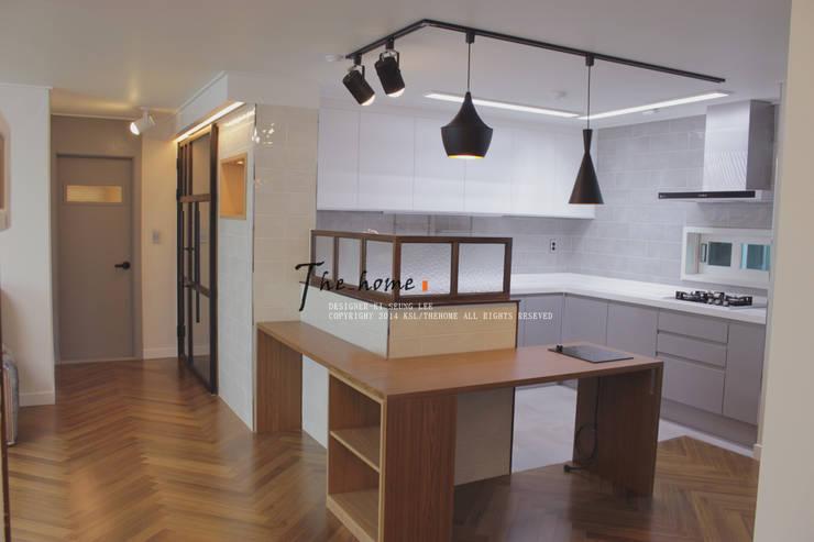 관저동 신선마을아파트 38평형 Before & After : 더홈인테리어의  다이닝 룸